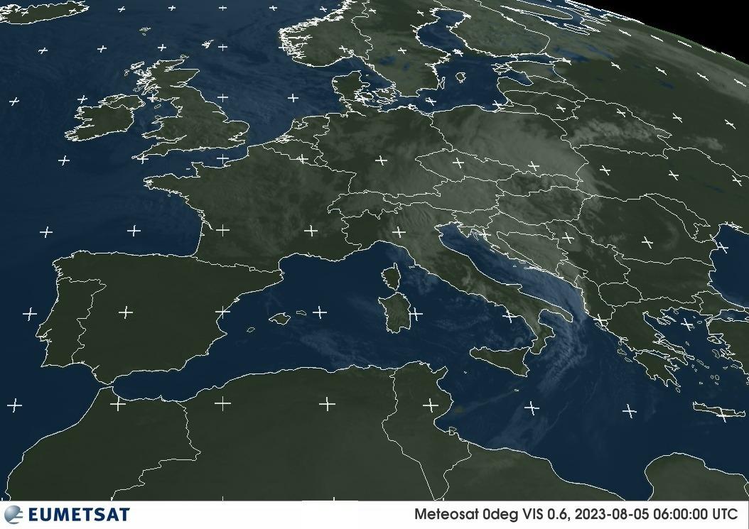 Meteosat-Bild sichtbarer Bereich