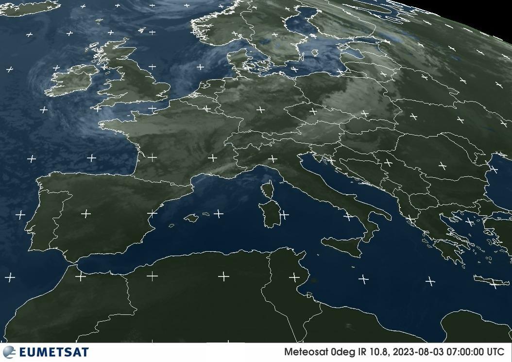 Meteosat-Bild infraroter Bereich
